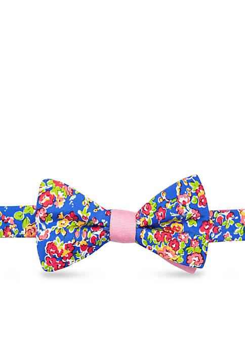 Self-Tie Savage Floral Bow-Tie