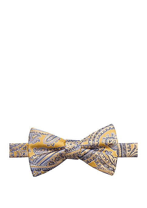 Wyatt Paisley Print Bow Tie