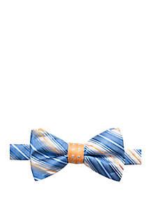 Saddlebred® Warley Stripe Bow Tie