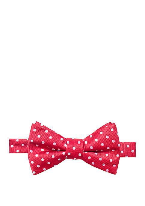 Saddlebred® Knoll Dot Print Bow Tie