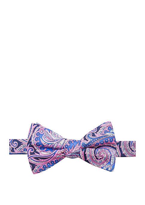 Saddlebred® Hacket Paisley Print Bow Tie