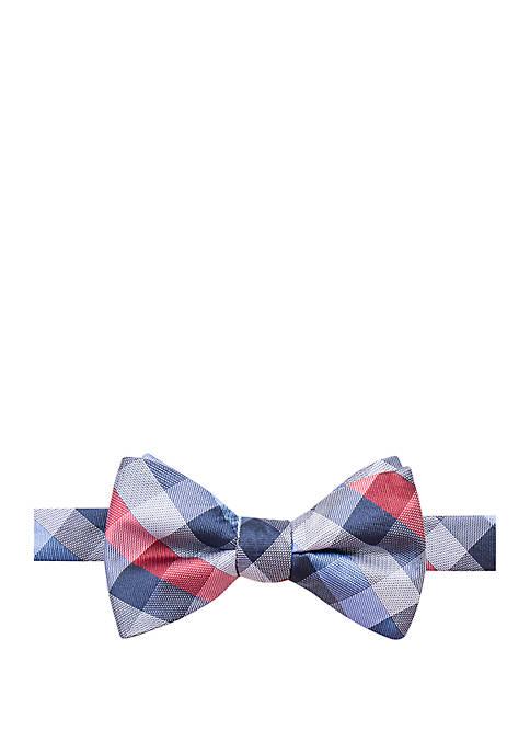 Saddlebred® Harcourt Check Print Bow Tie