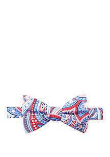 Saddlebred® Haven Paisley Print Bow Tie