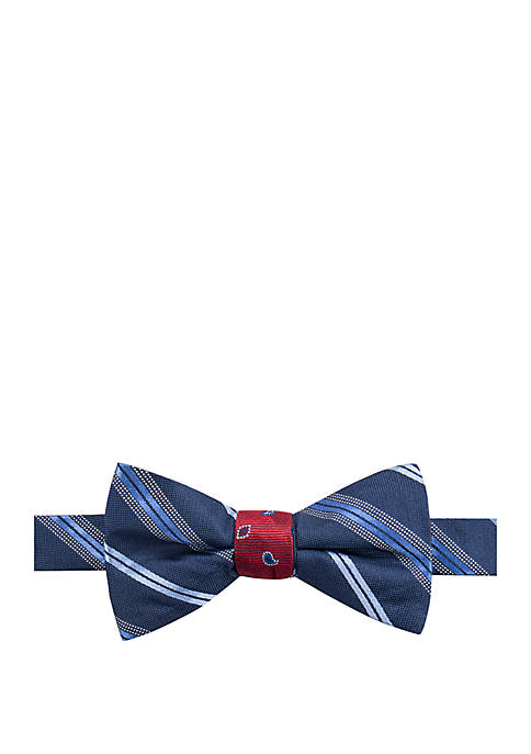 Saddlebred® Carson Stripe Neat Bow Tie