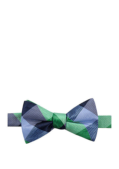 Flint Check Bow Tie