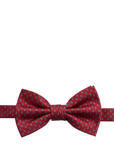 Saddlebred® Mens Holiday Mini Tree Bow Tie