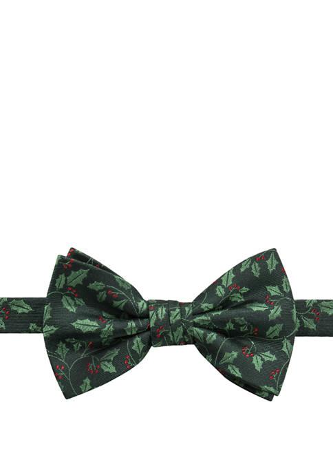 Mens Holiday Holly Bow Tie