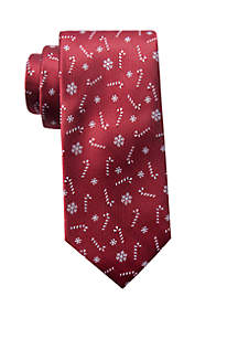 Red Candy Cane Neck Tie