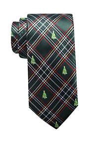 Green Christmas Tree Neck Tie