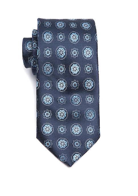 Big & Tall Medallion Extra Long Tie