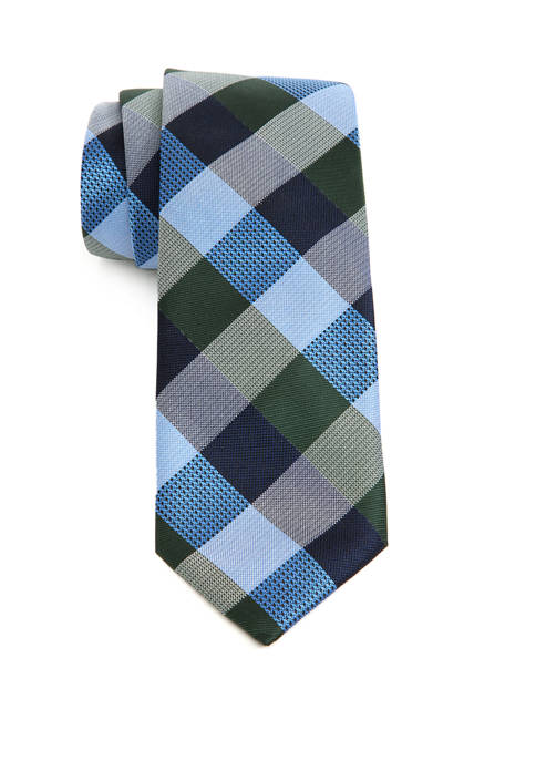 Saddlebred® Big & Tall Flint Check XL Tie