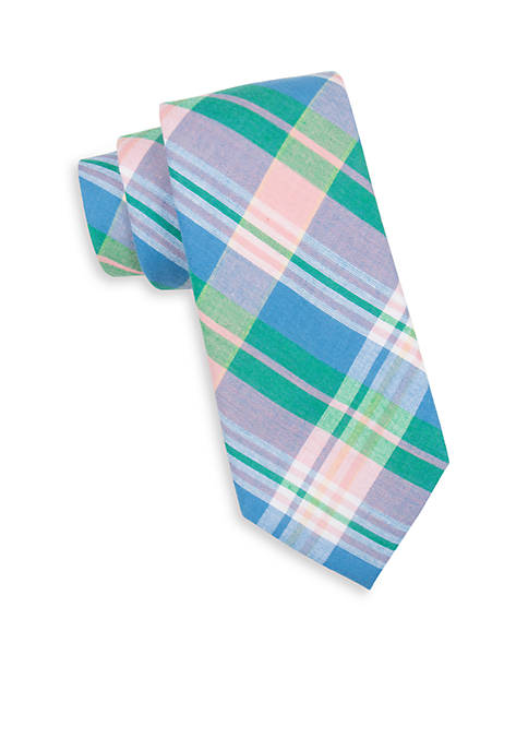 Sea Alston Madras Plaid Tie