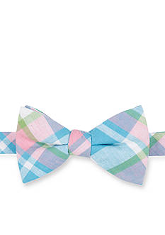 Saddlebred® Pre-Tied Sea Aberdeen Madras Bow-Tie