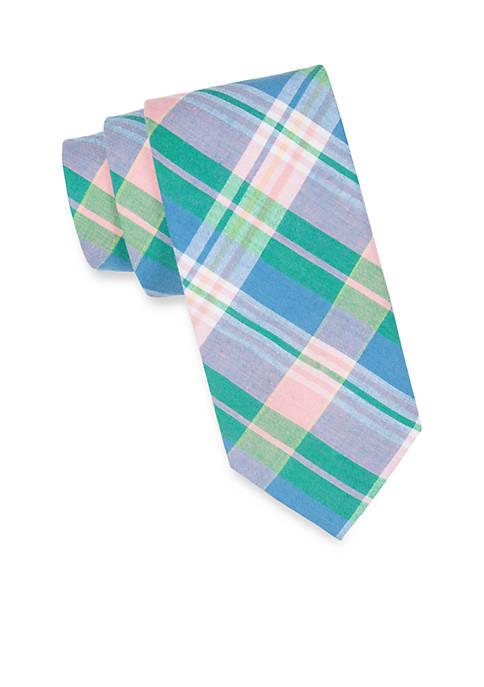 Extra Long Sea Alston Madras Tie