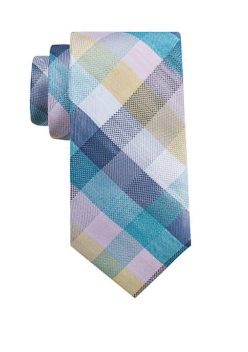 Big & Tall Extra Long Costa Check Tie