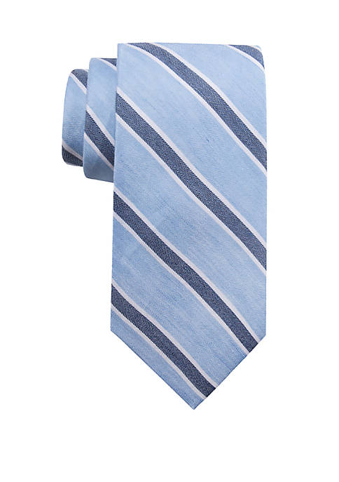 Crown & Ivy™ Extra Long Corner Stripe Tie