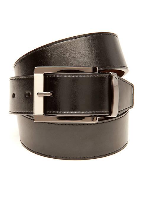 Saddlebred® Big & Tall Leather Reversible Dress Belt