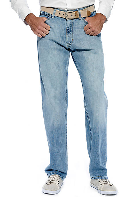 Relaxed Light Hatch Jeans