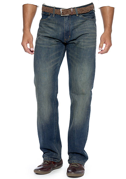 Relaxed Cross Hatch Jeans
