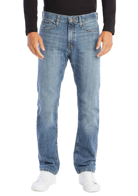 Straight Fit Cross Hatch Jeans