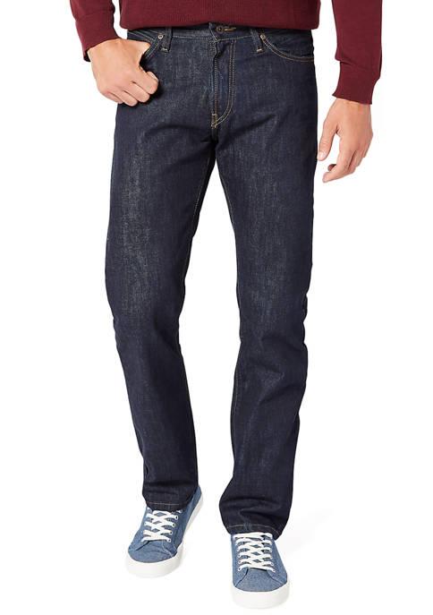 Straight Fit Dark Rinse Jeans