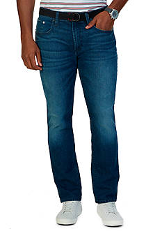 Nautica Straight-Fit Pure Blue Ocean Wash Jeans