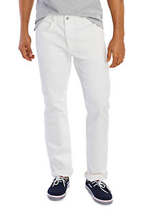 Nautica Athletic Straight Leg Frost White Wash Jeans