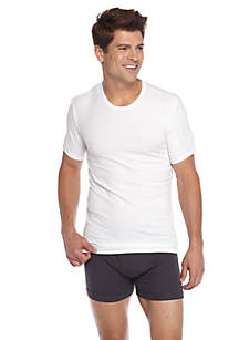 Cotton Stretch Crew Neck Tee - 2 Pack