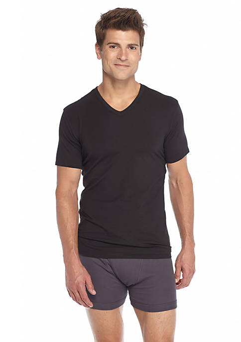 Calvin Klein Cotton Stretch V-Neck Tee