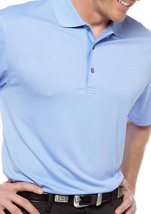 IZOD Grid Polo Knit