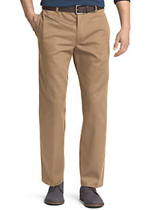 Classic Fit American Chino Flat Front Wrinkle-Free Pants
