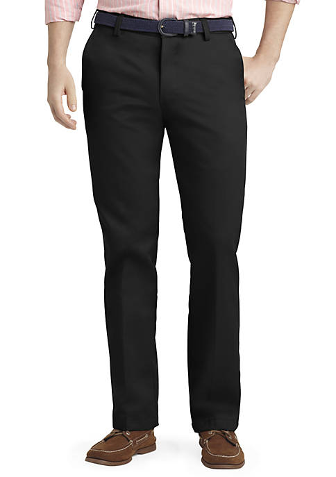 IZOD Slim Fit American Chino Flat Front Wrinkle-Free