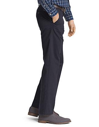 IZOD Mens American Chino Flat Front Slim Fit Pant