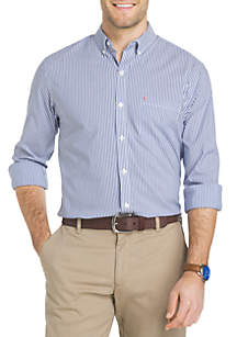 Big & Tall Long Sleeve Advantage Non-Iron Poplin Shirt