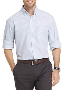 Big & Tall Long Sleeve Essential Tattersall Woven Shirt