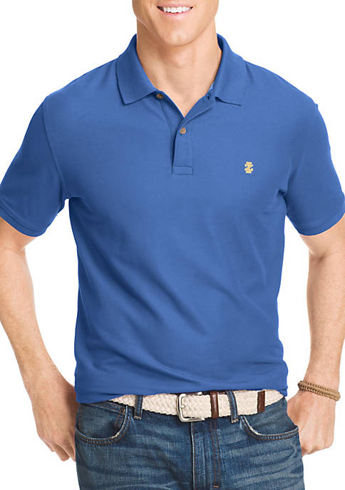 IZOD Short Sleeve Solid Stretch Advantage Pique Polo
