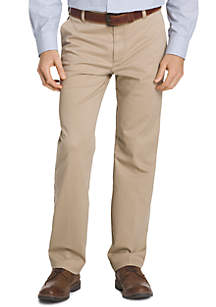Performance Stretch Chino Straight Fit Flat Front Pants