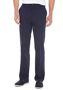 IZOD Performance Stretch Classic Fit Flat Front Pants