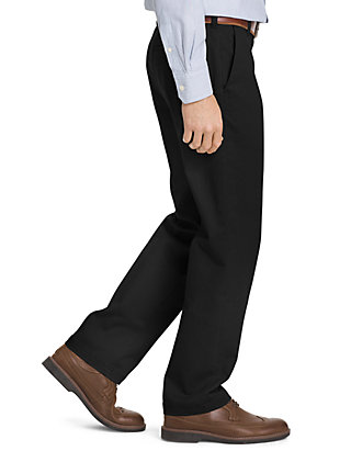 Izod Mens Slim Fit Performance Stretch Chino Pants Black 38x29