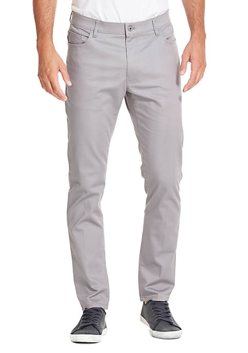 Premium Stretch Straight Tapered Fit Five Pocket Chino Pants