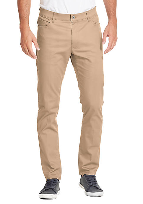 IZOD Premium Stretch Straight Fit Five Pocket Chino