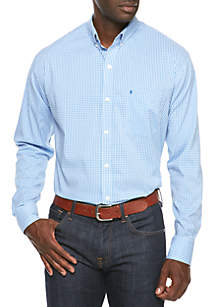 Long-Sleeve Advantage Performance Stretch Gingham Shirt