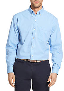 Big and Tall Stretch Long Sleeve Button Down Shirt