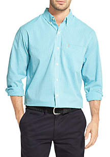 IZOD Premium Essentials Slim Gingham Button Down Shirt