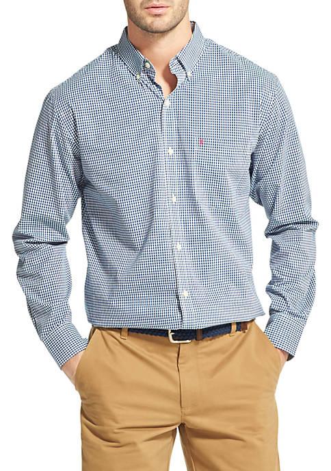 IZOD Premium Essentials Slim Gingham Button Down Shirt