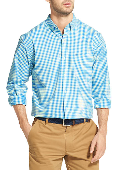 IZOD Premium Essentials Gingham Button Down Shirt