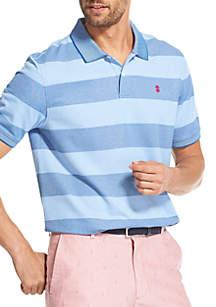 ffb0130e36f95 ... IZOD Advantage Performance Slim Striped Polo Shirt