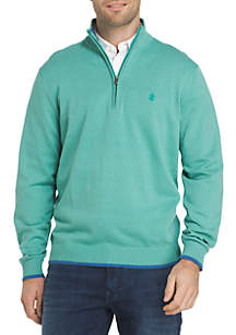Quarter Zip Solid Sweater