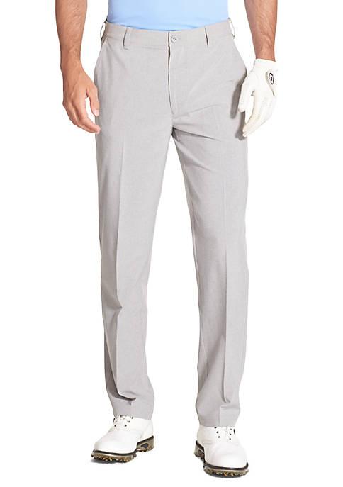 Golf Swing Flex Straight Fit Flat Front Pants