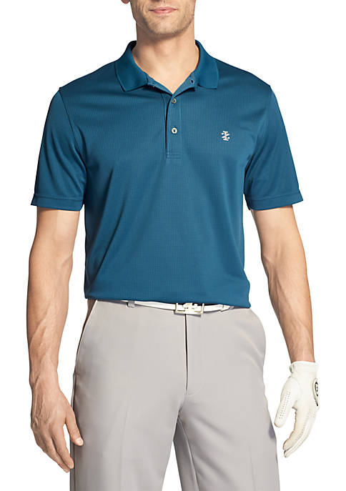 IZOD Short Sleeve Champion Grid Polo